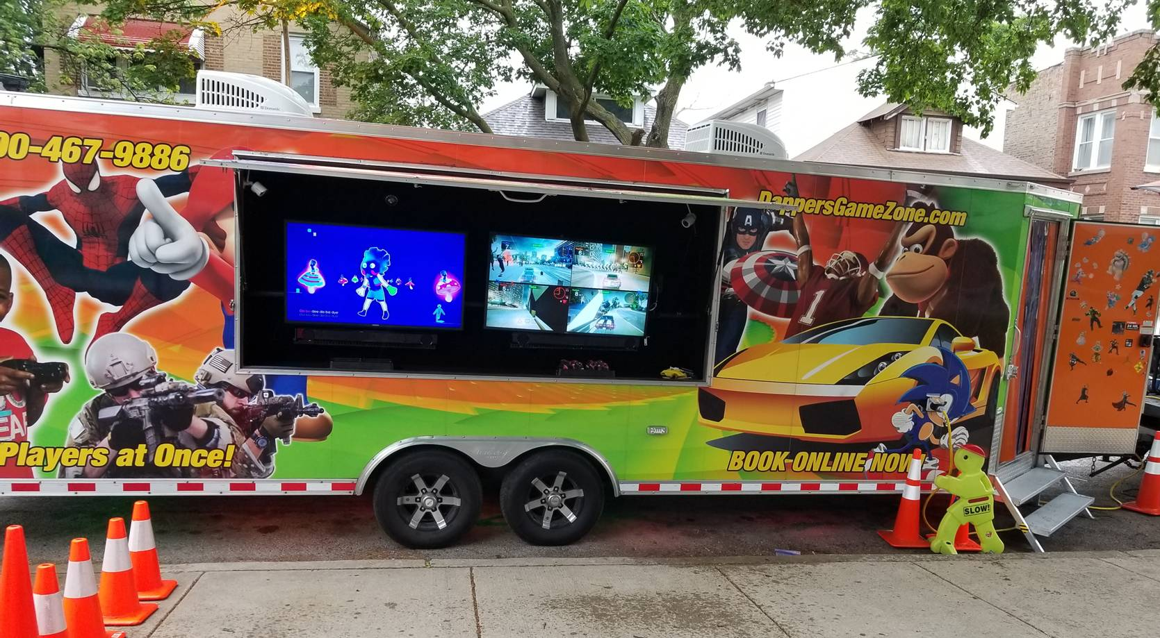 Chicago video game truck, game van, party truck and trailer